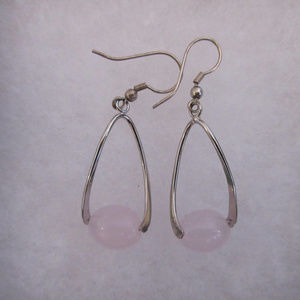 💜3 for 20$:  Rose Quartz 925  Silver Earrings